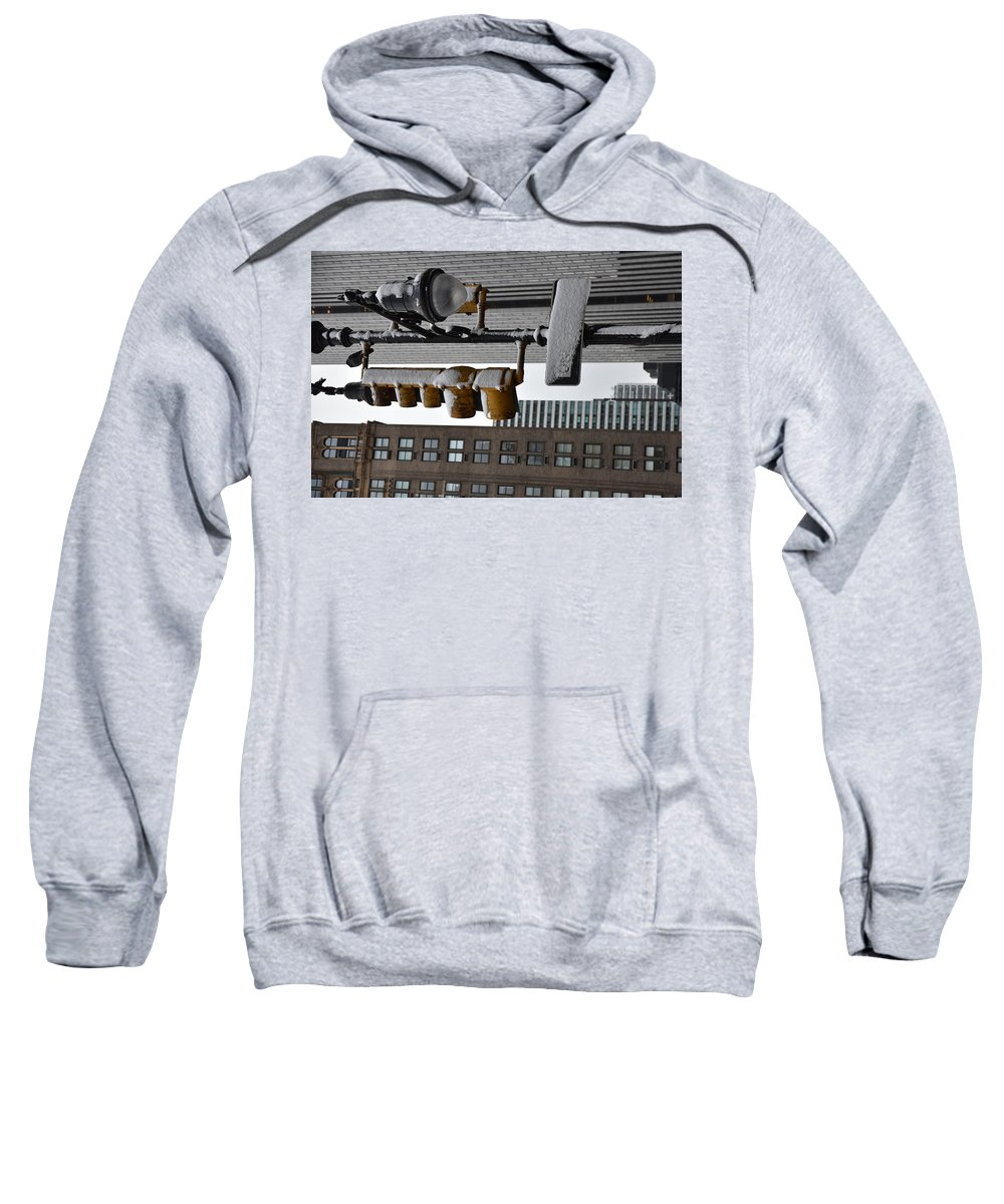 Snow Sweatshirt featuring the photograph Street Lights by Aya Edlin