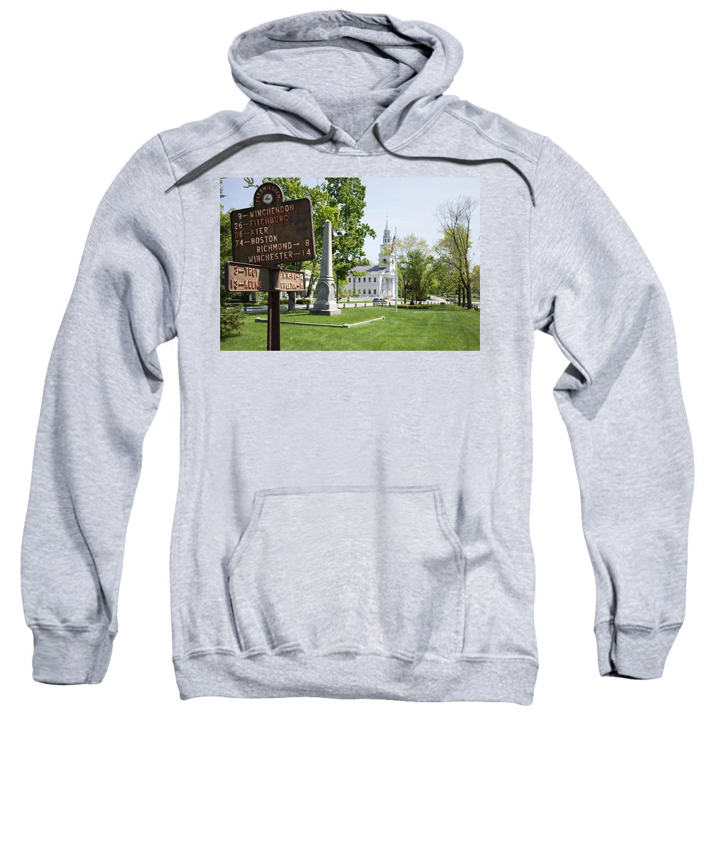 Fitzwilliam Sweatshirt featuring the photograph Street Sign In Fitzwilliam, New Hampshire by Morgain Bailey