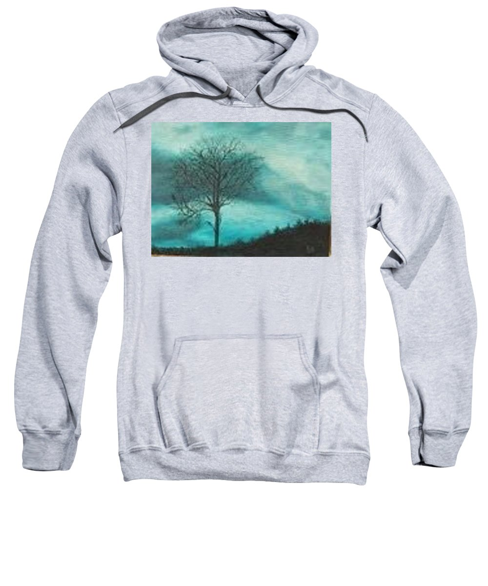 Nature Sweatshirt featuring the painting Strength In The Midst by Kimberley Gates