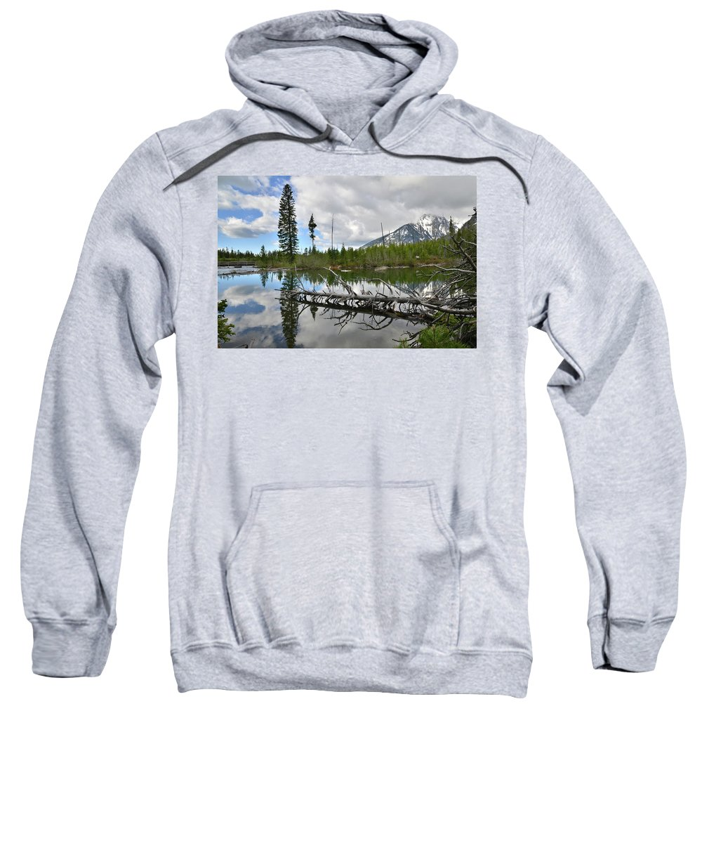 Grand Teton National Park Sweatshirt featuring the photograph String Lake In Grand Tetons by Ray Mathis