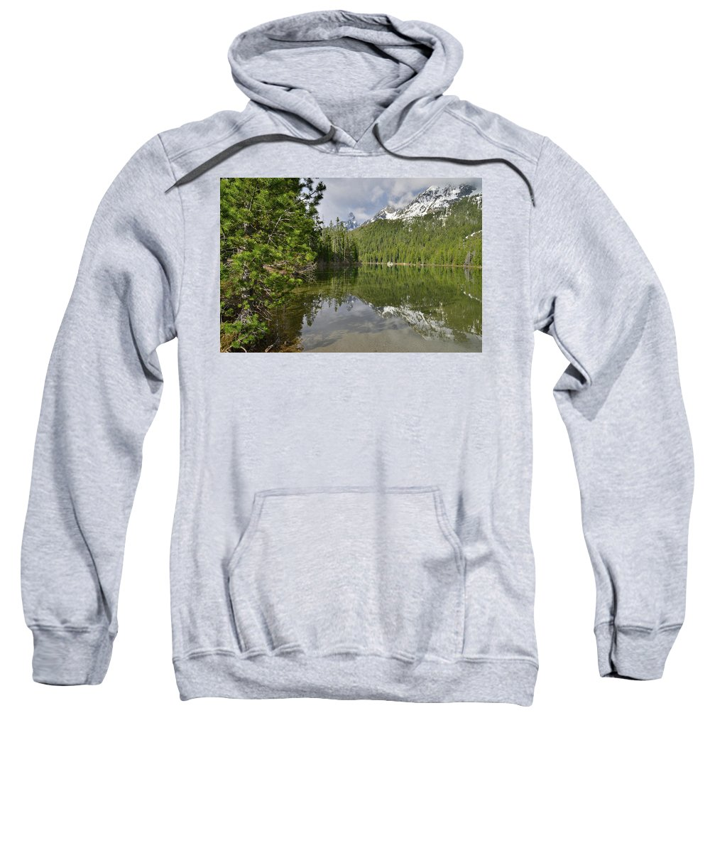 Grand Teton National Park Sweatshirt featuring the photograph String Lake Teton Reflection by Ray Mathis
