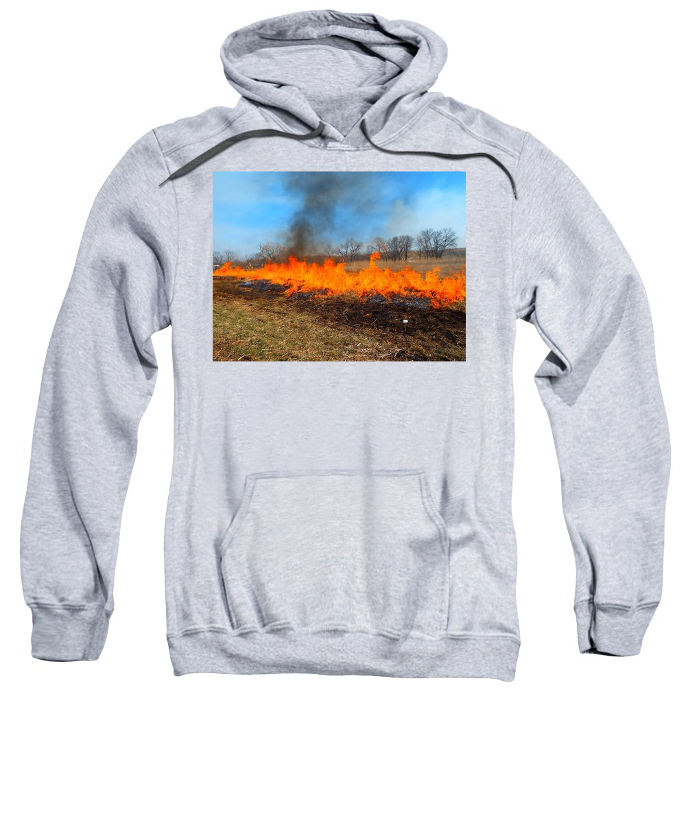 Fire Sweatshirt featuring the photograph String Of Fire by Aaron Moore