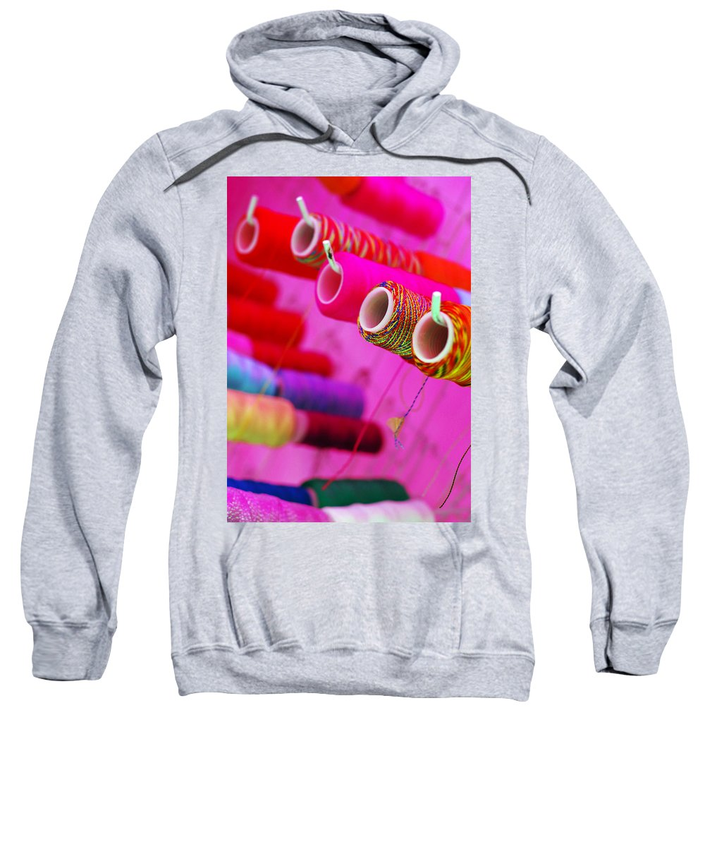 Color Sweatshirt featuring the photograph String Theory by Skip Hunt
