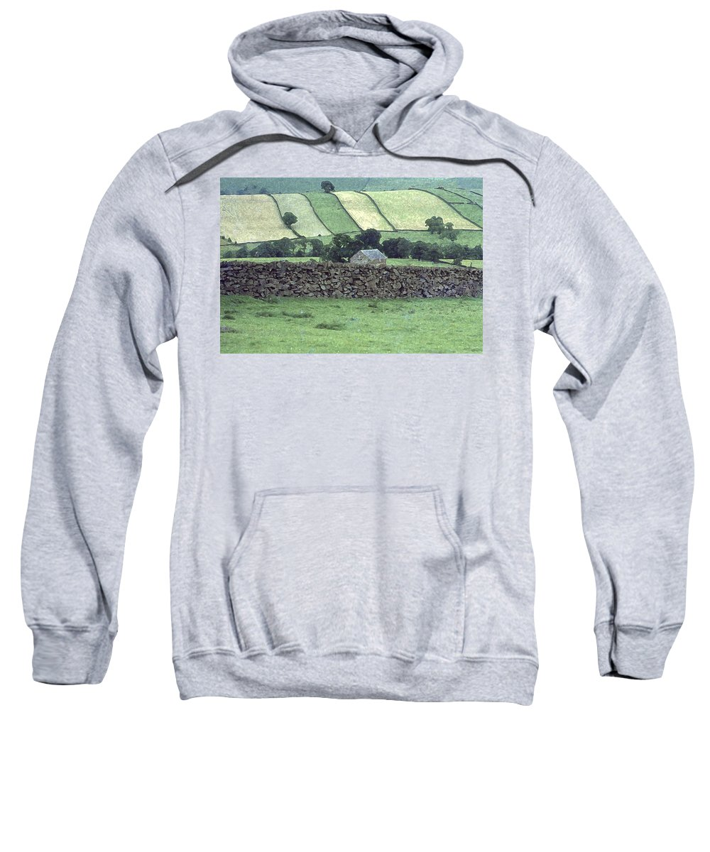 Landscape Sweatshirt featuring the photograph Strip Fields by Elizabetha Fox