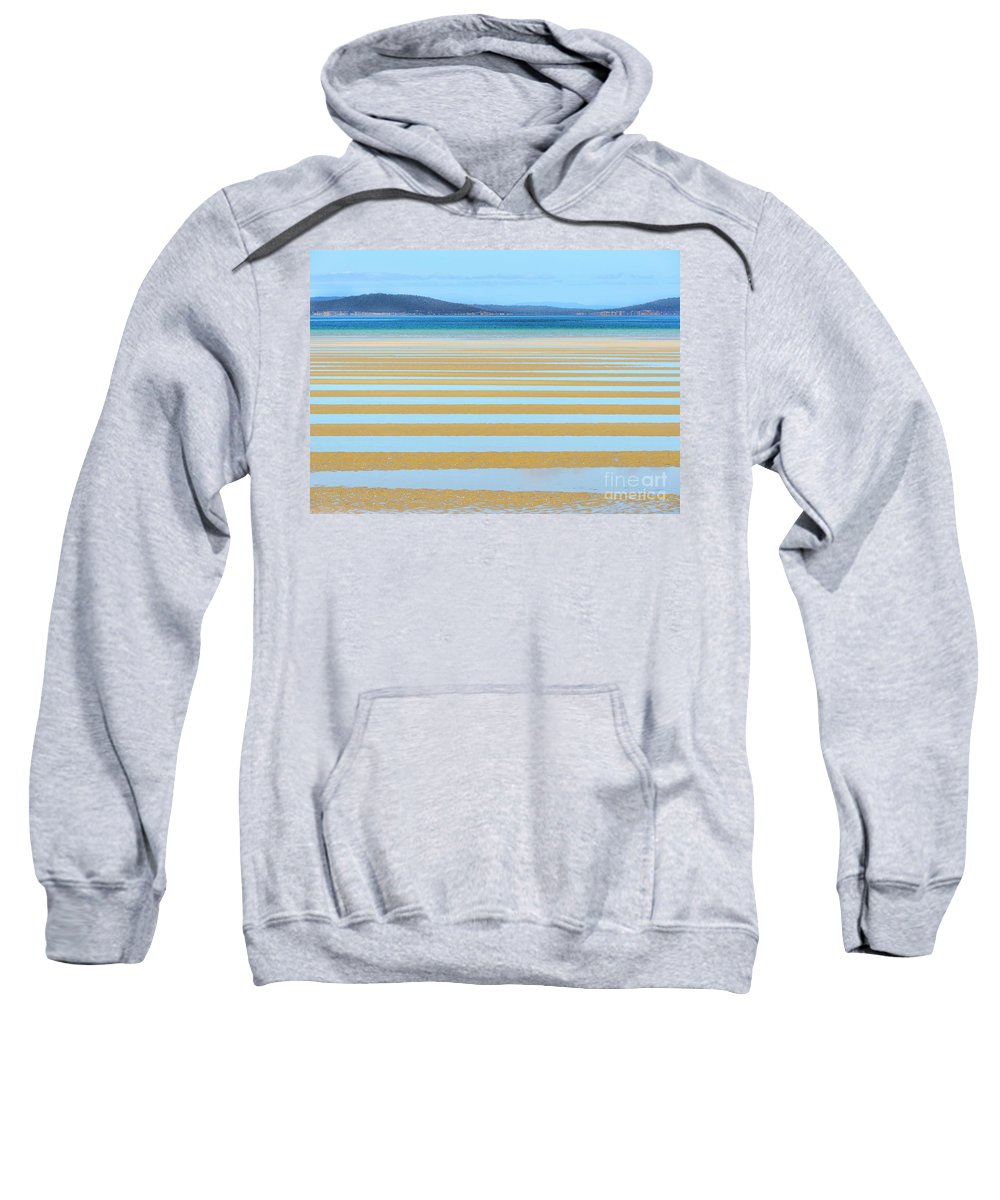 Nature Sweatshirt featuring the photograph Stripy Shores by Genevieve Vallee