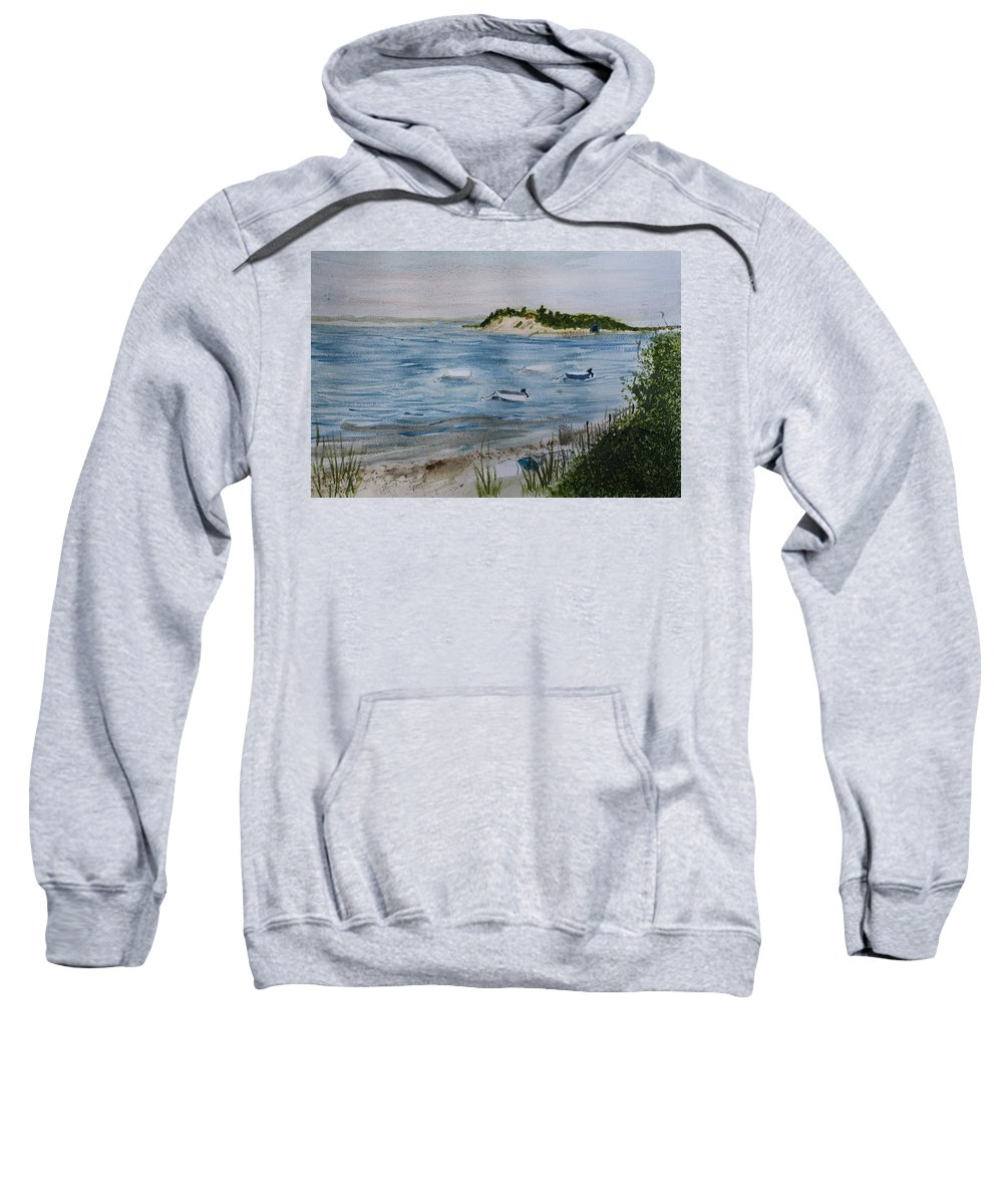 Strong Island Sweatshirt featuring the painting Strong Island by Donna Walsh