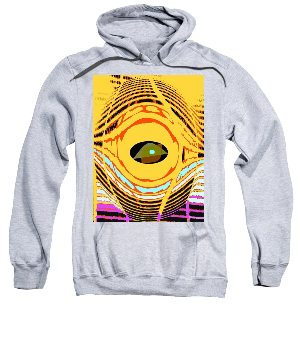 Yellow Sweatshirt featuring the photograph Structure In Perspective by Ian MacDonald