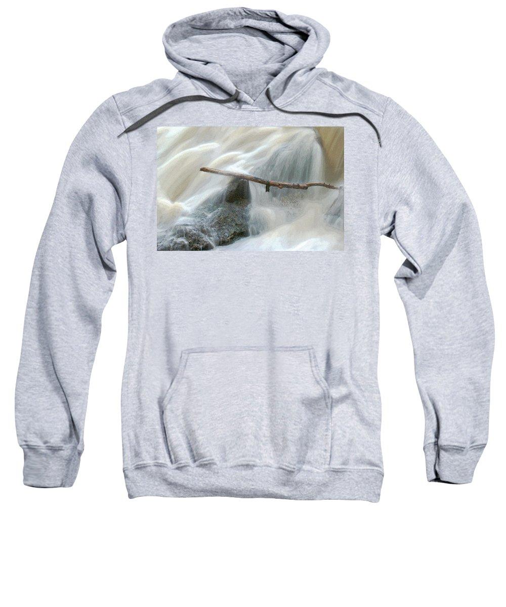 Stick Sweatshirt featuring the photograph Stuck Digitally Enhanced by Ernie Echols