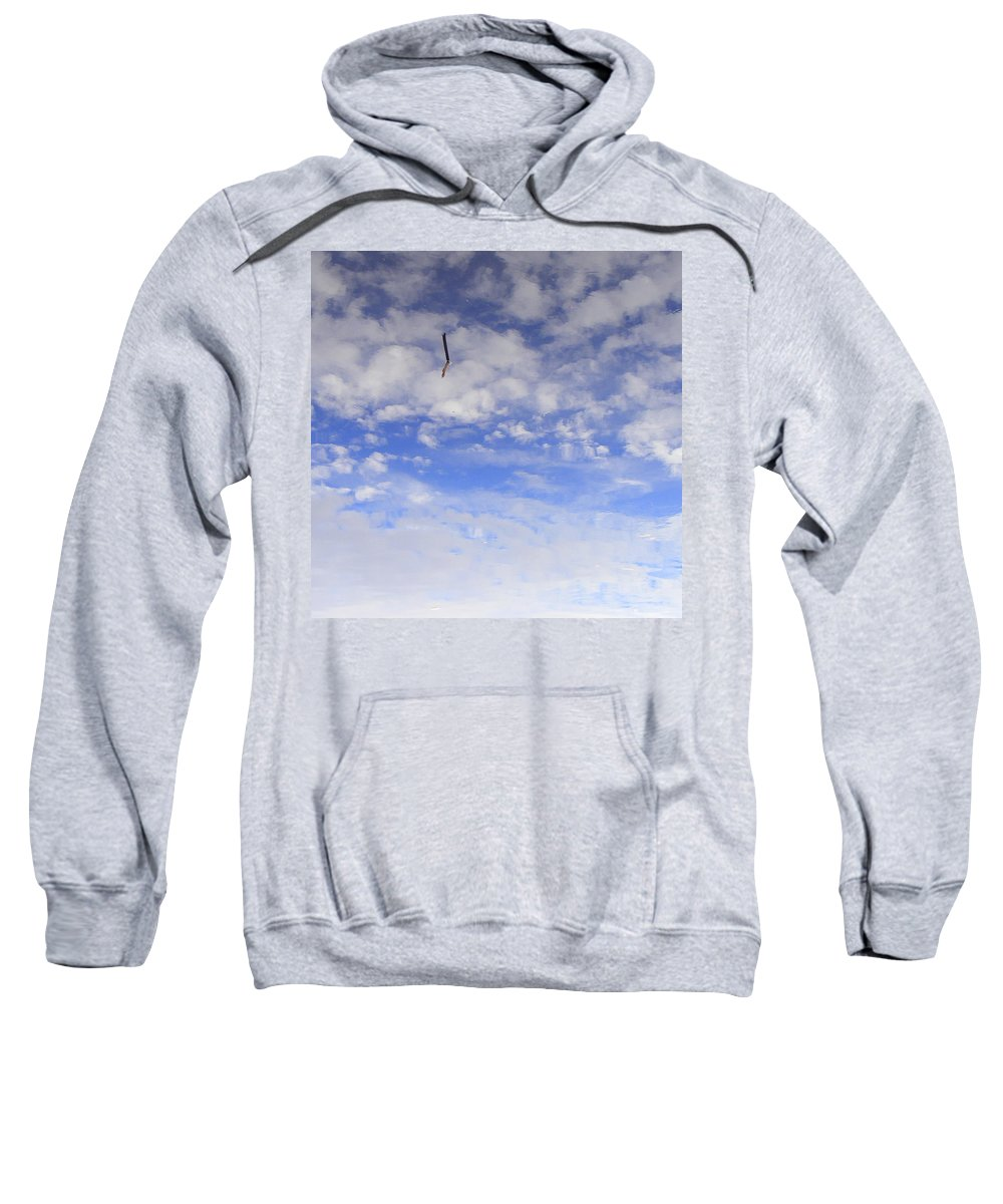 Sky Sweatshirt featuring the photograph Stuck In The Clouds by Ed Smith