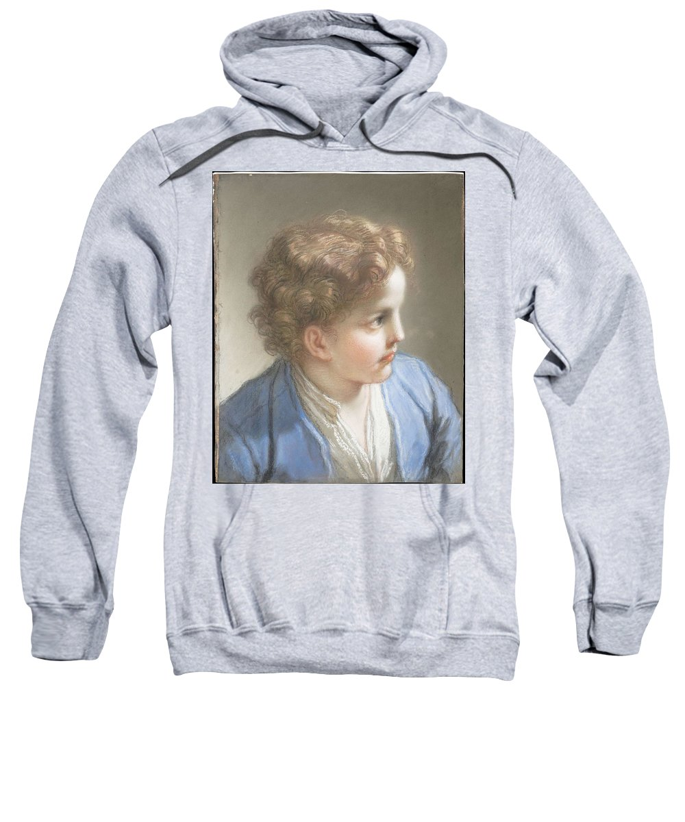 Beautiful Sweatshirt featuring the painting Study Of A Boy In A Blue Jacket , Benedetto Luti Italian, Florence 1666-1724 Rome by Benedetto Luti