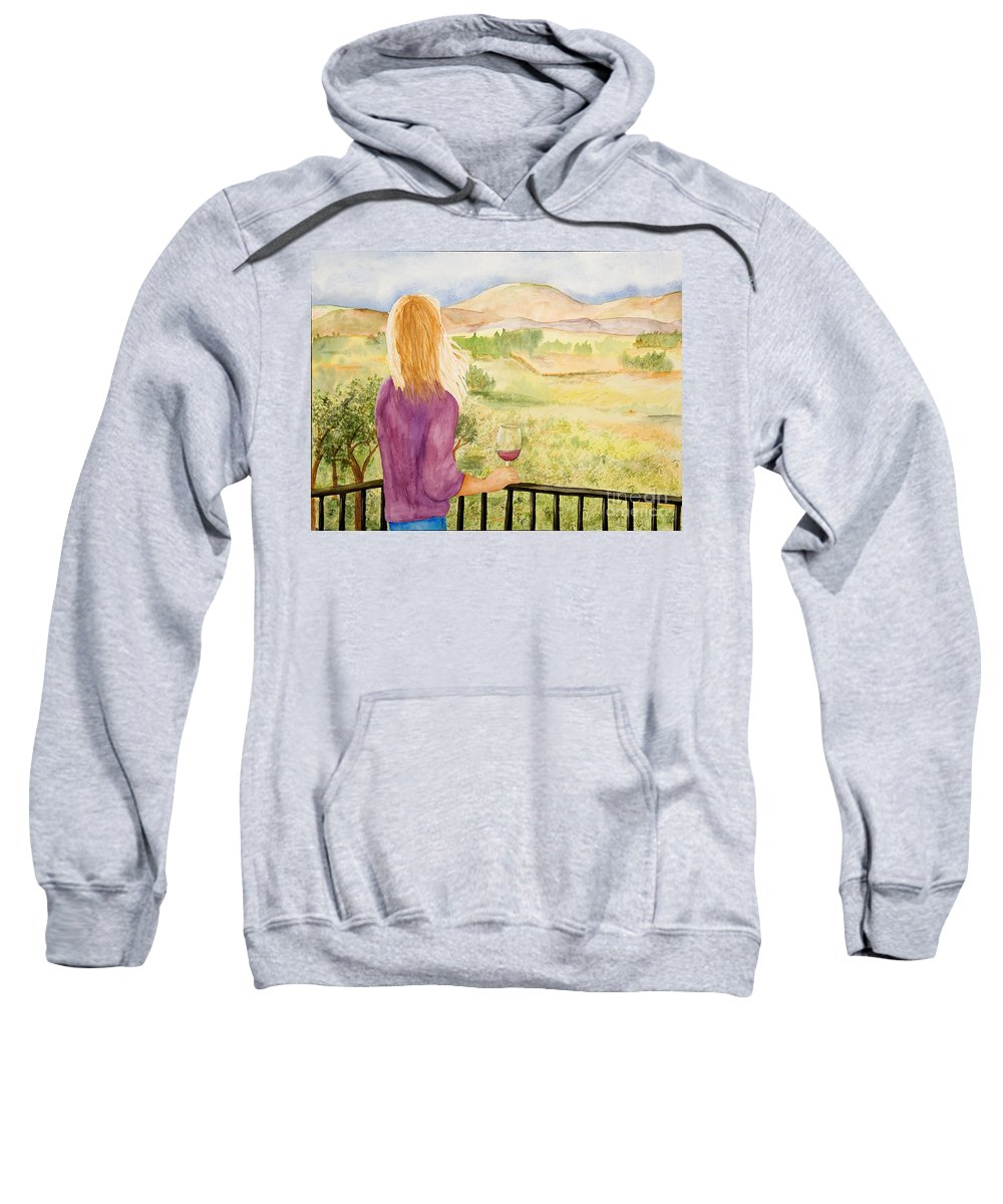 Wine Sweatshirt featuring the painting Study Of A Wine Ad by Vicki Housel