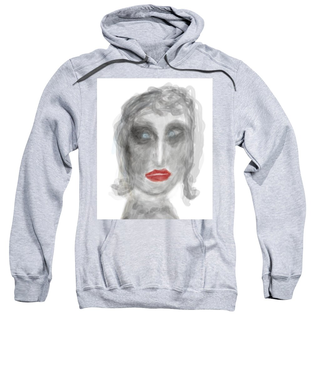 Apple Pencil Sweatshirt featuring the drawing Stunned by Bill Owen