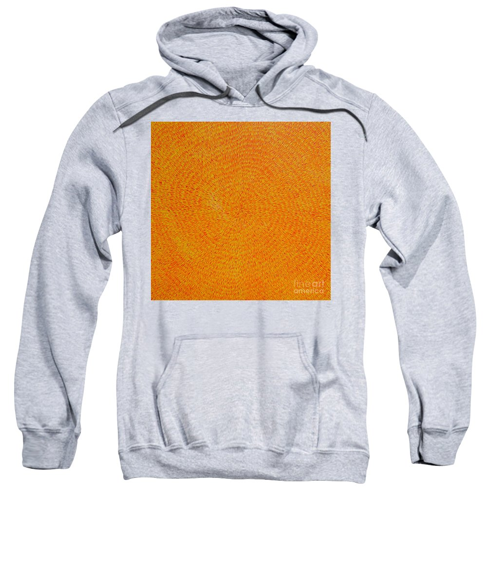 Abstract Sweatshirt featuring the painting Su Gaia Fire by Dean Triolo