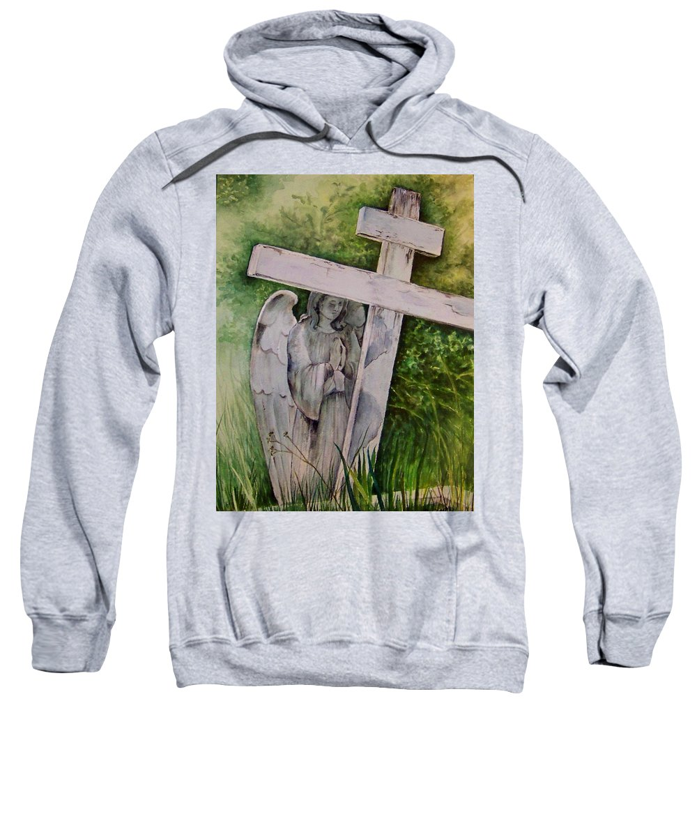 Watercolor Sweatshirt featuring the painting Sublime Watcher by Brenda Owen