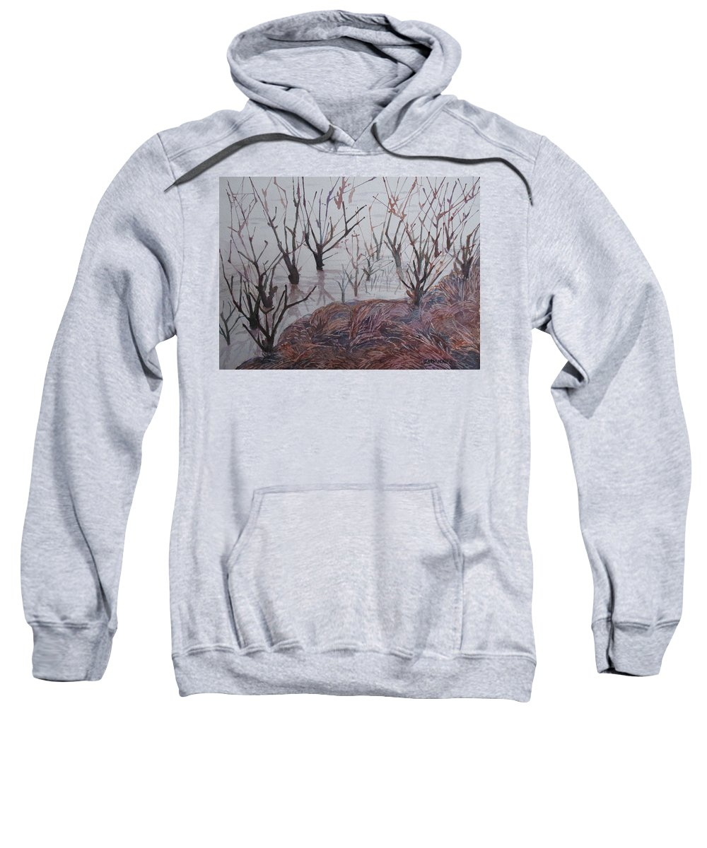 Willamette Sweatshirt featuring the painting Submerged I by Jenny Armitage