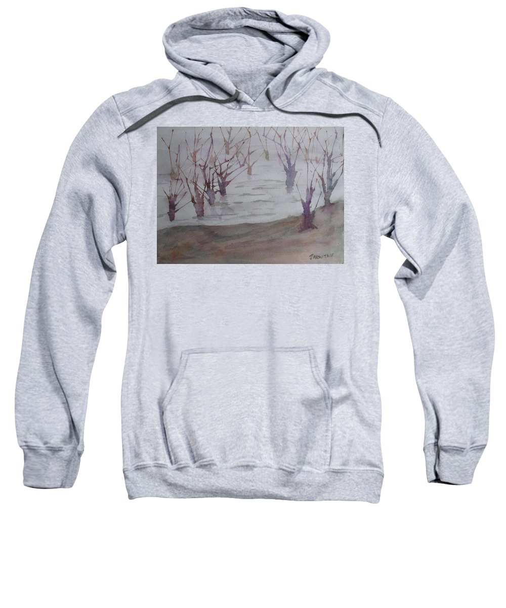 Trees Sweatshirt featuring the painting Submerged II by Jenny Armitage
