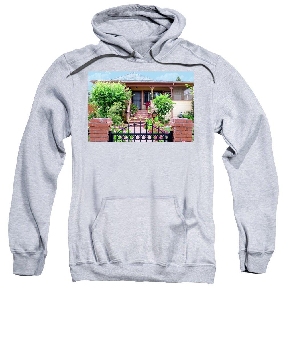 Suburbia Sweatshirt featuring the photograph Suburban House Hayward California 38 by Kathy Anselmo