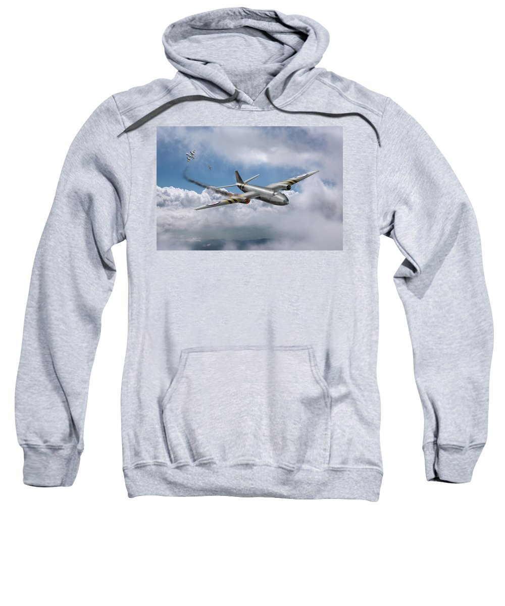 English Electric Canberra Sweatshirt featuring the photograph Suez Canberra Pr7 Shoot Down by Gary Eason