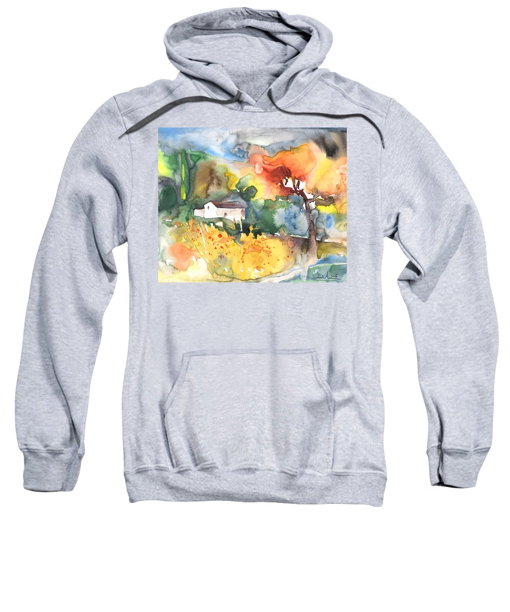Watercolour Sweatshirt featuring the painting Summer Afternoon by Miki De Goodaboom