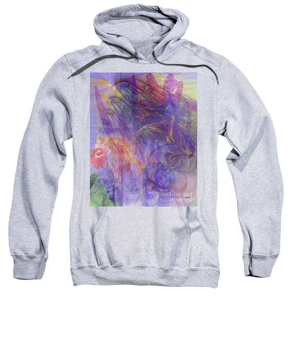 Summer Awakes Sweatshirt featuring the digital art Summer Awakes by John Beck