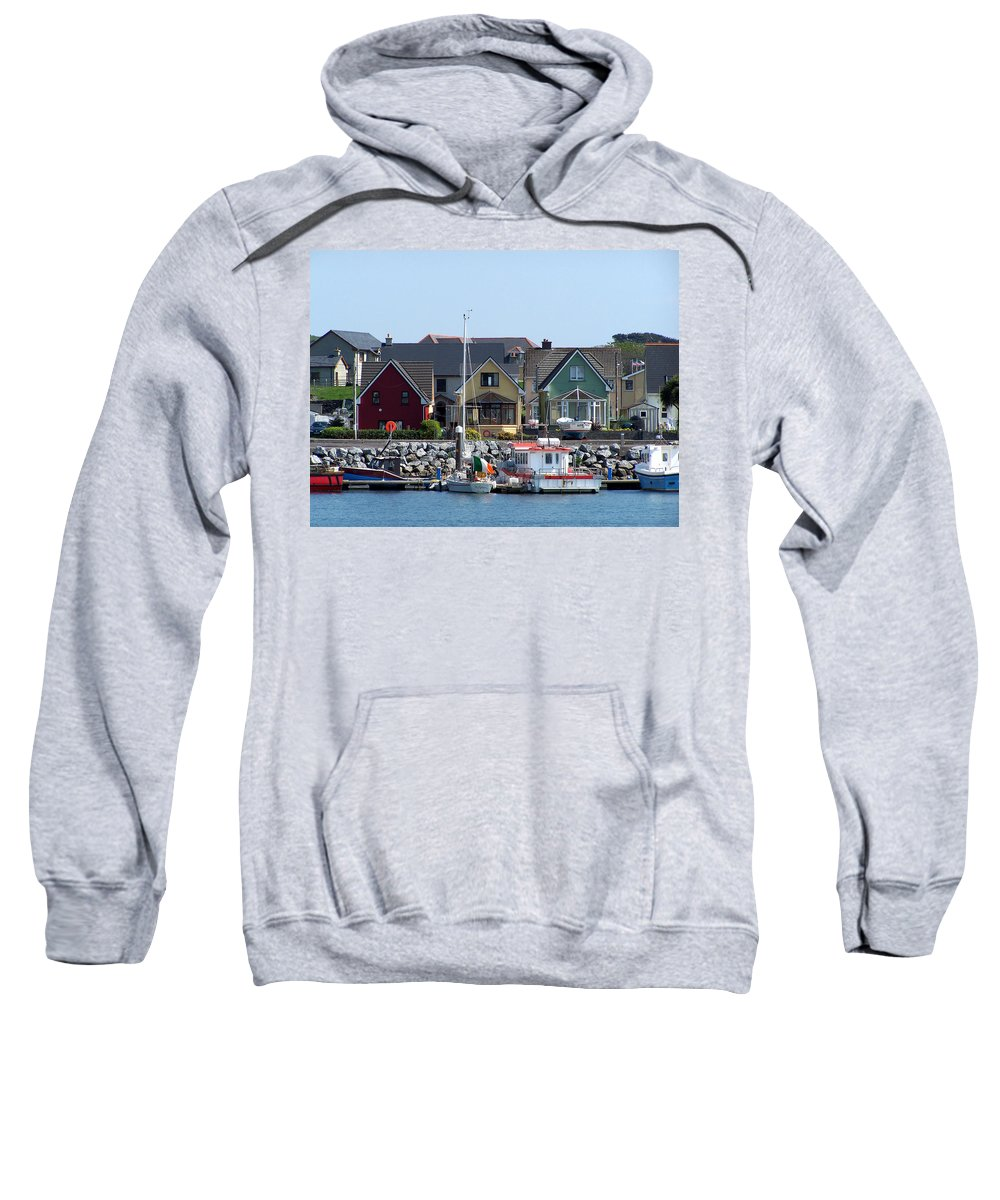 Irish Sweatshirt featuring the photograph Summer Cottages Dingle Ireland by Teresa Mucha