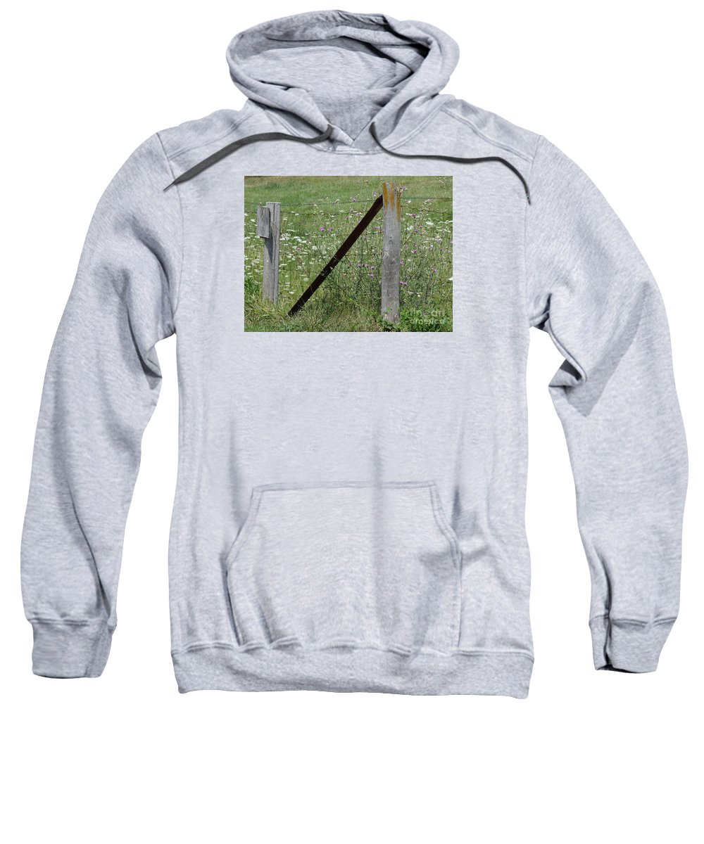 Fences Sweatshirt featuring the photograph Summer Days by Teresa Hayes