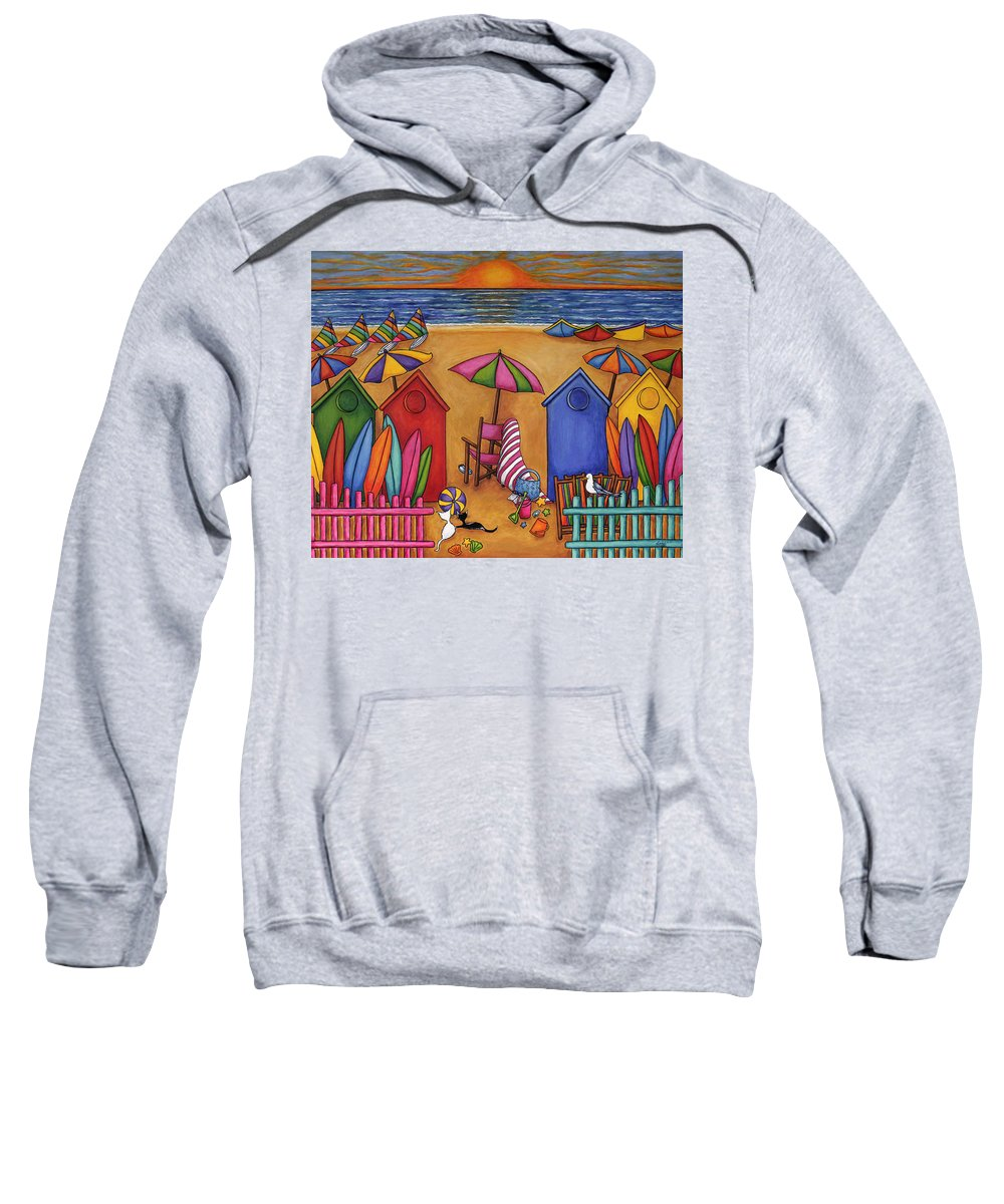 Summer Sweatshirt featuring the painting Summer Delight by Lisa Lorenz