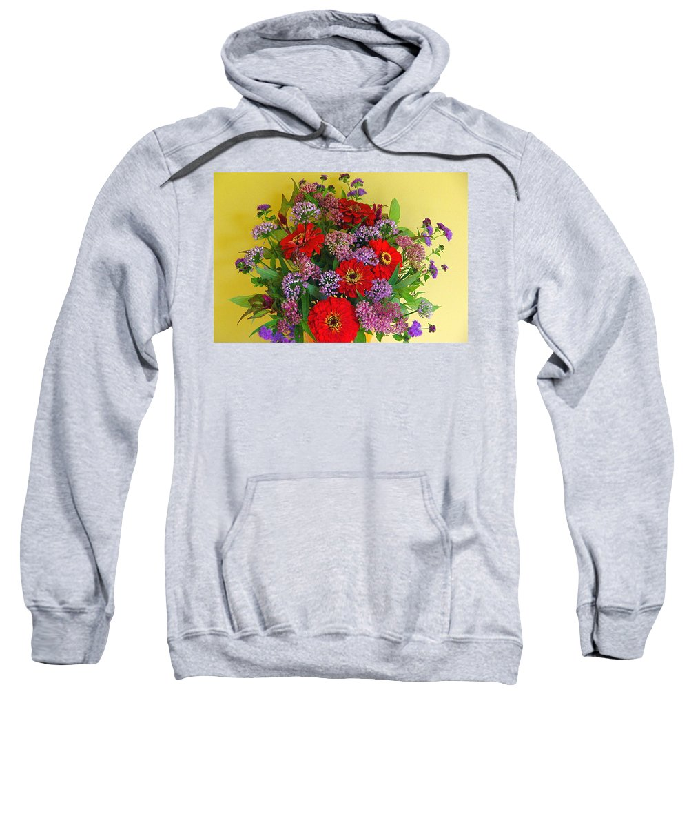 Still Life Sweatshirt featuring the photograph Summer Flower Bouquet by Byron Varvarigos