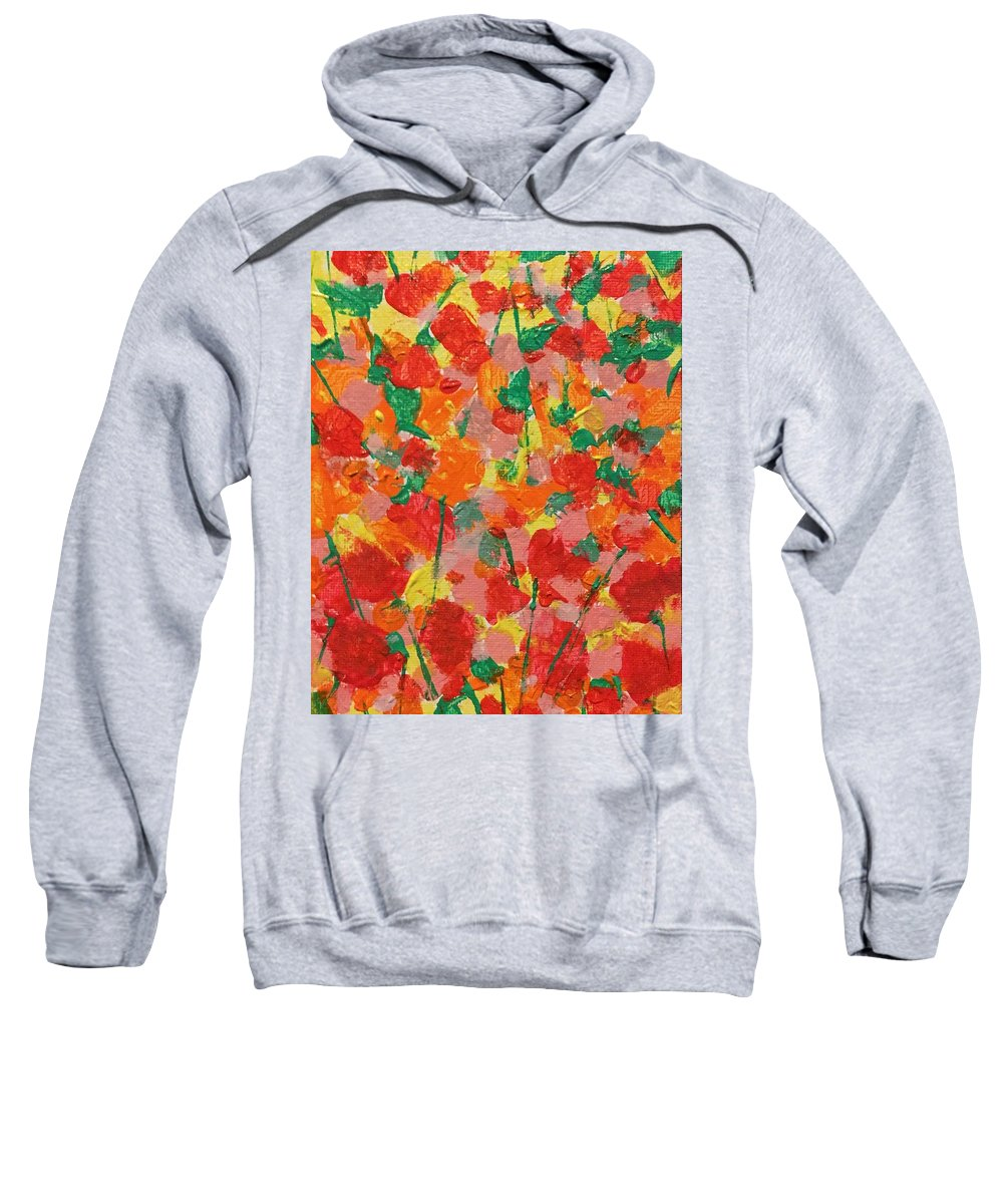 Flowers Sweatshirt featuring the painting Summer Garden by Diane Sykeny