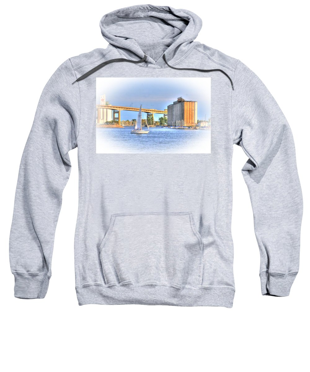 Sailboat Sweatshirt featuring the photograph Summer Sailing by Kathleen Struckle
