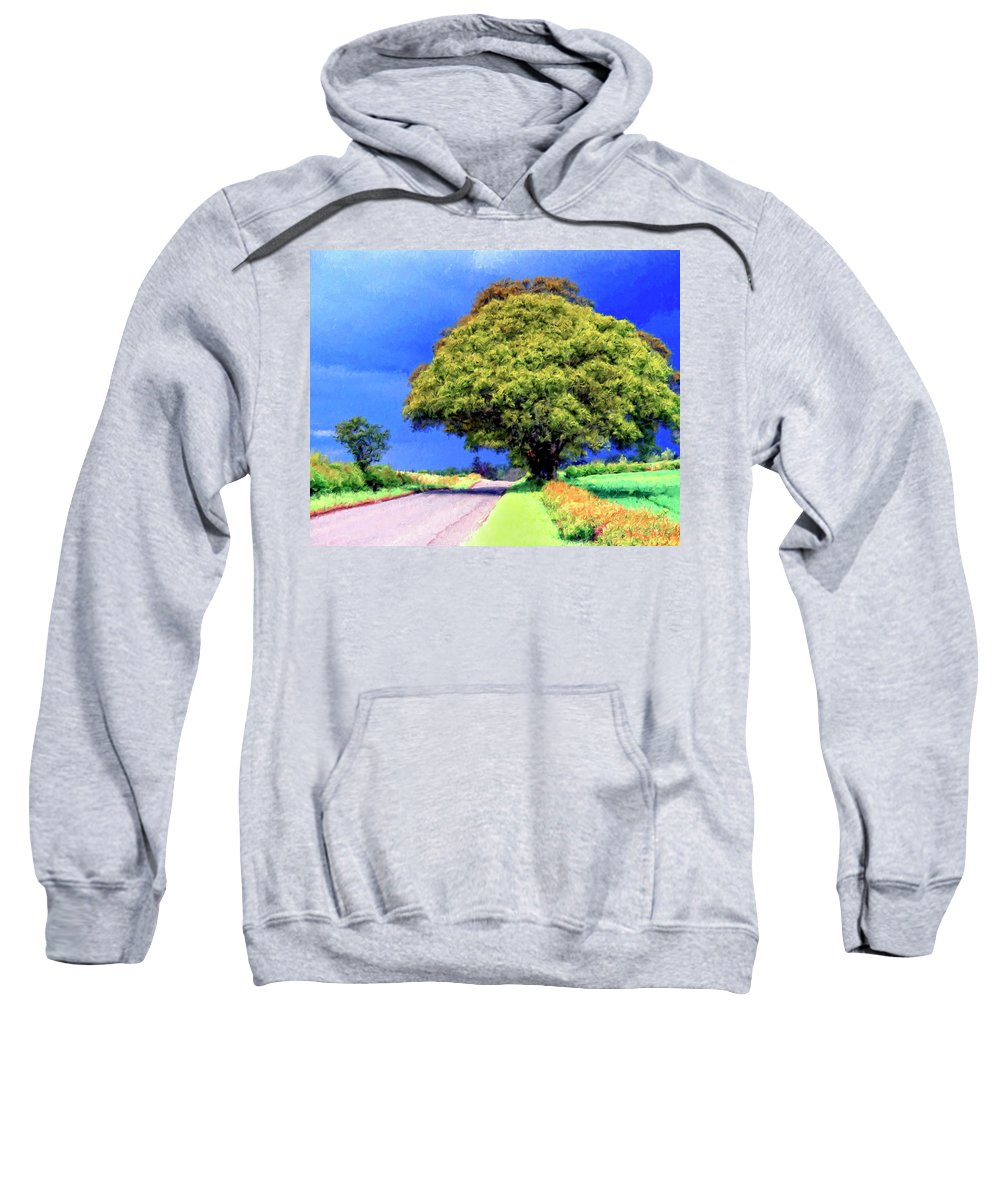 Country Road Sweatshirt featuring the painting Summer Thunder by Dominic Piperata
