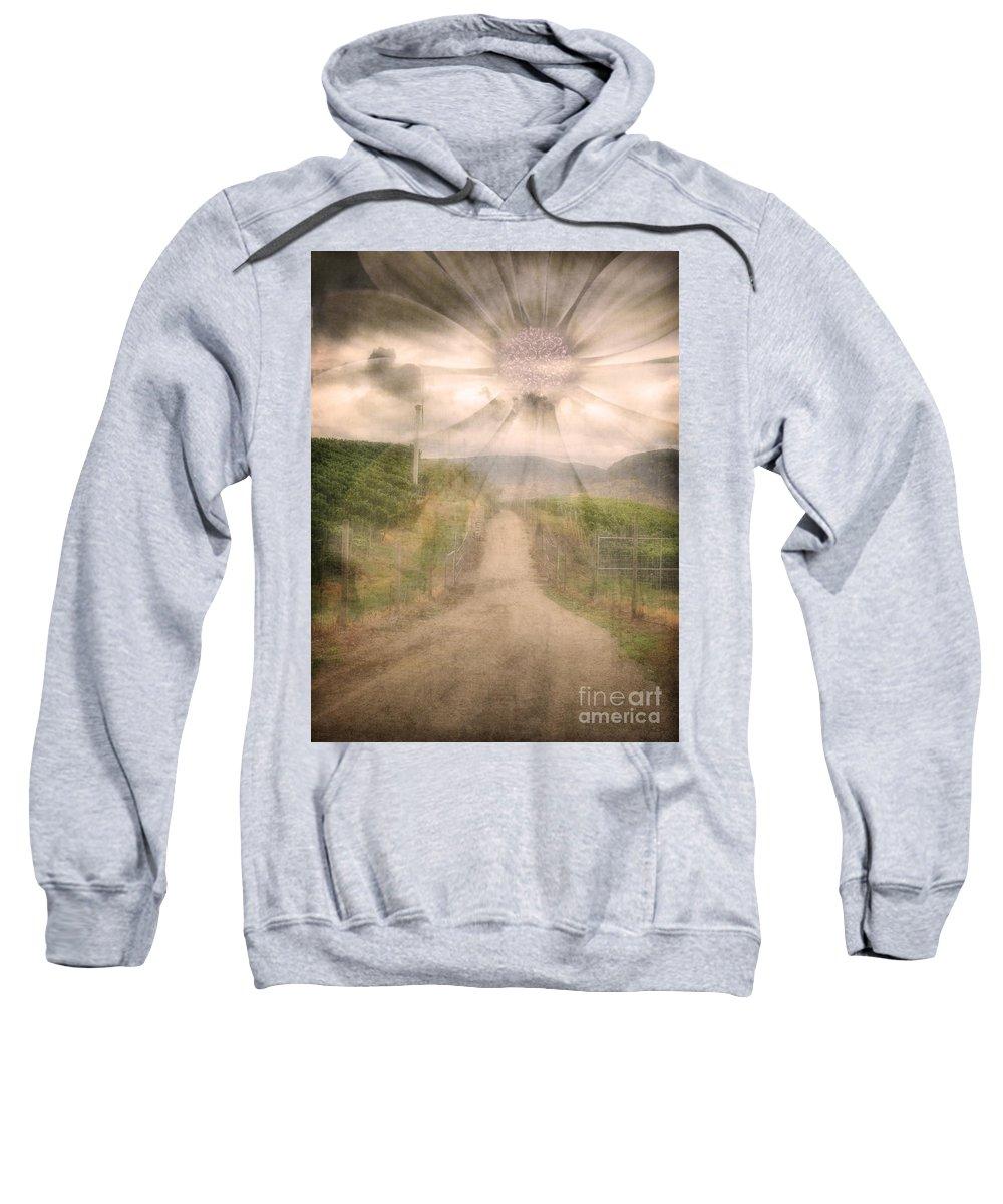 Flower Sweatshirt featuring the photograph Summer's Last Light by Tara Turner