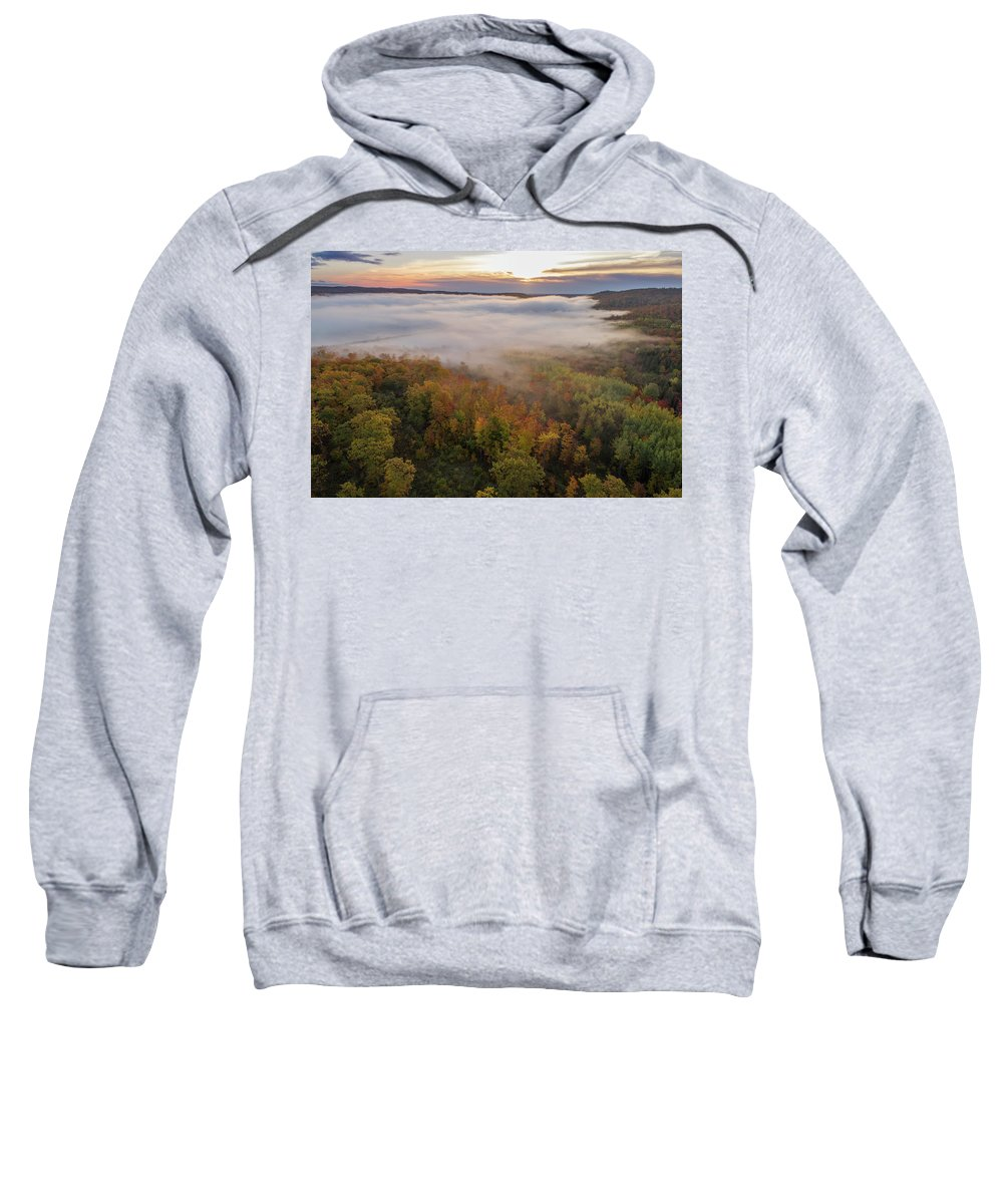 Marquette Sweatshirt featuring the digital art Sun And Fog by Bradley J Nelson