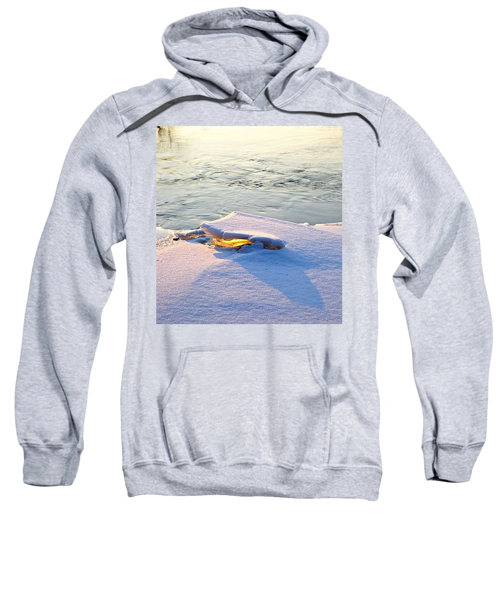Sunshine Sweatshirt featuring the photograph Sun And Ice by Robert Pearson