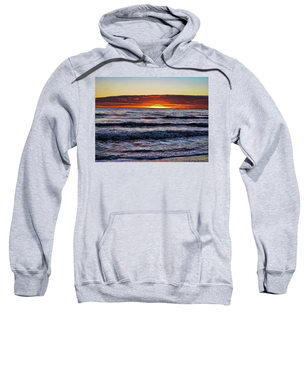 Sunset Sweatshirt featuring the photograph Sun-down by Douglas Barnard