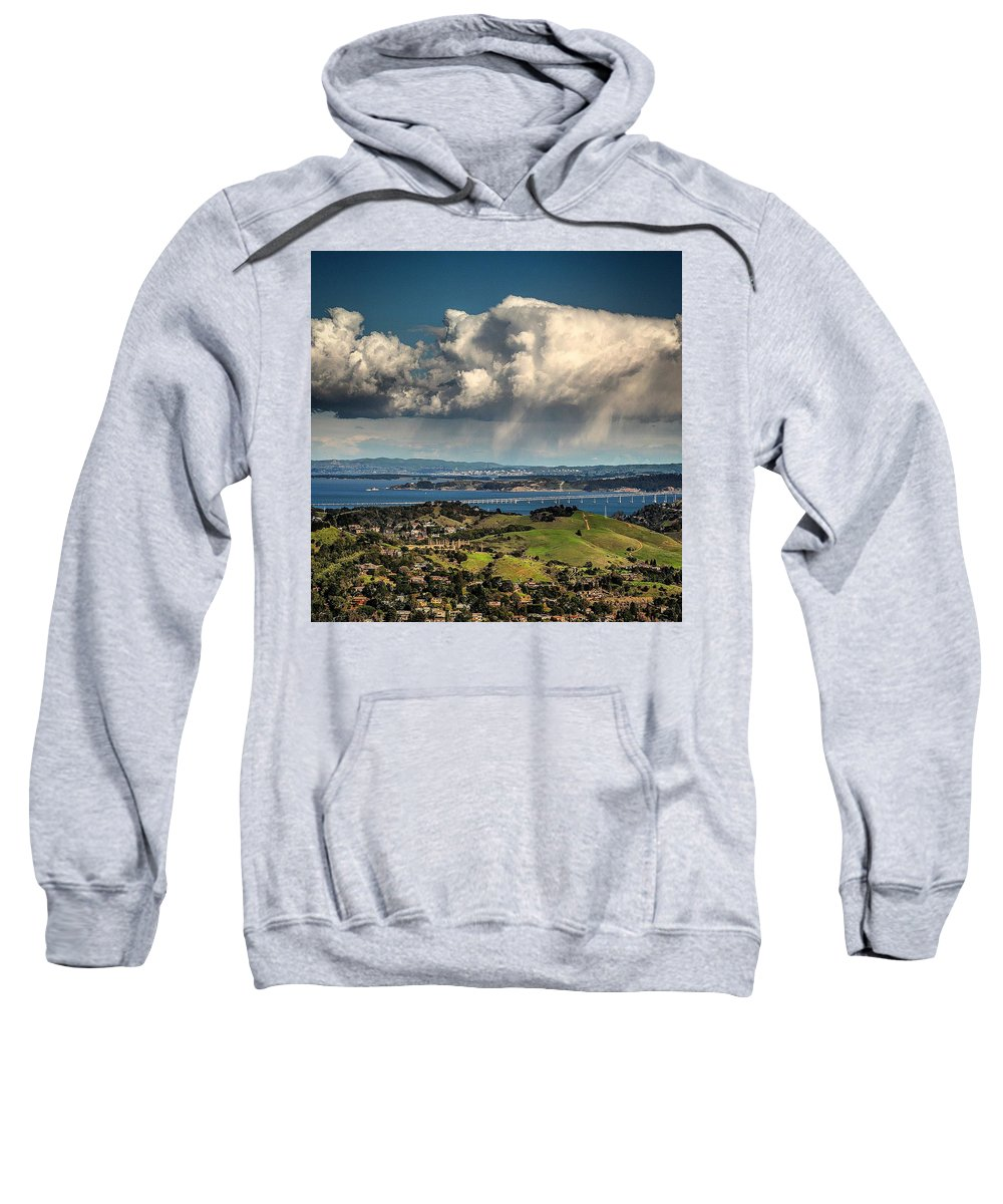 Clouds Sweatshirt featuring the photograph Sun Shower by Michael Krugman