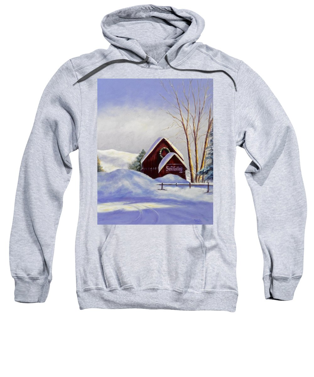 Landscape Sweatshirt featuring the painting Sun Valley 2 by Shannon Grissom