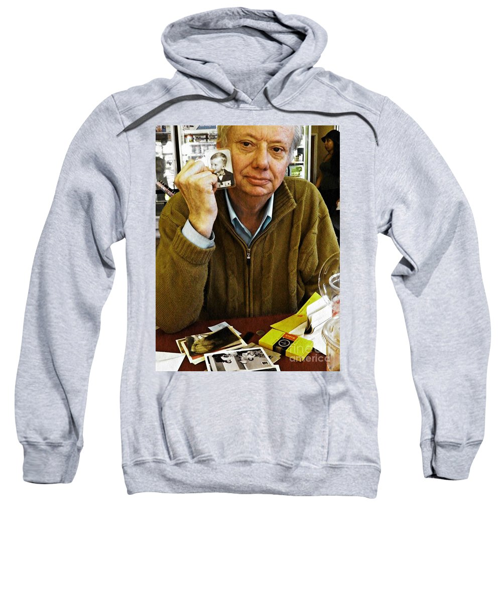 Portrait Sweatshirt featuring the photograph Sunday Afternoon At Dunkin Donuts 7 by Sarah Loft
