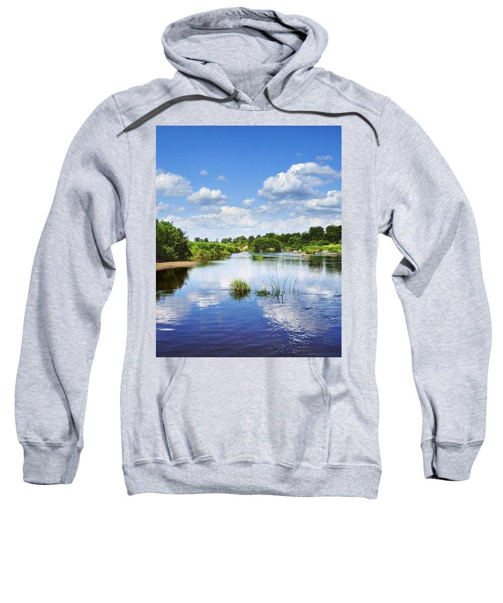 Landscape Sweatshirt featuring the photograph Sunday River by Vadzim Kandratsenkau