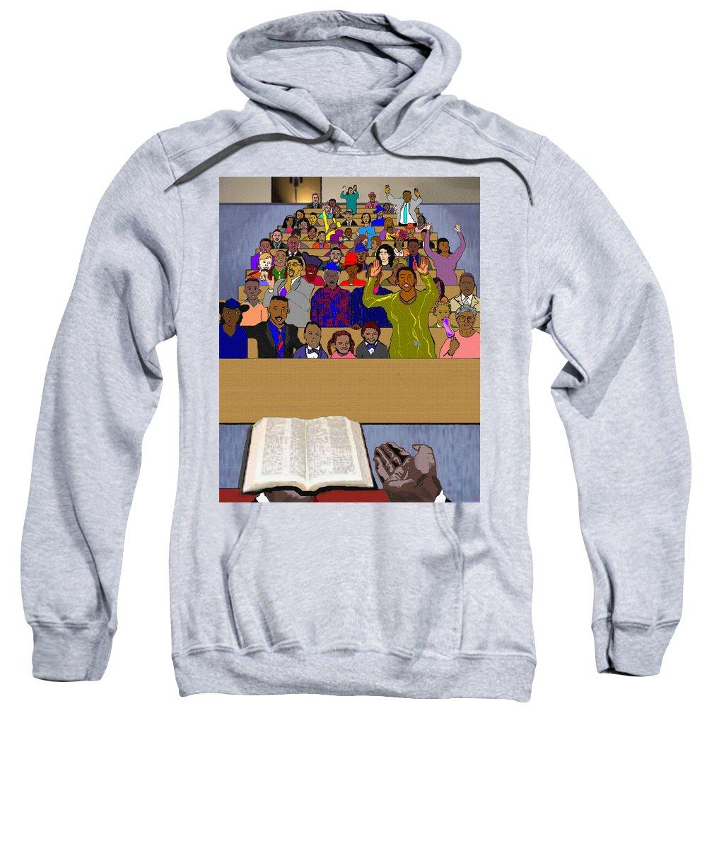 Sermon Sweatshirt featuring the painting Sunday Sermon by Pharris Art