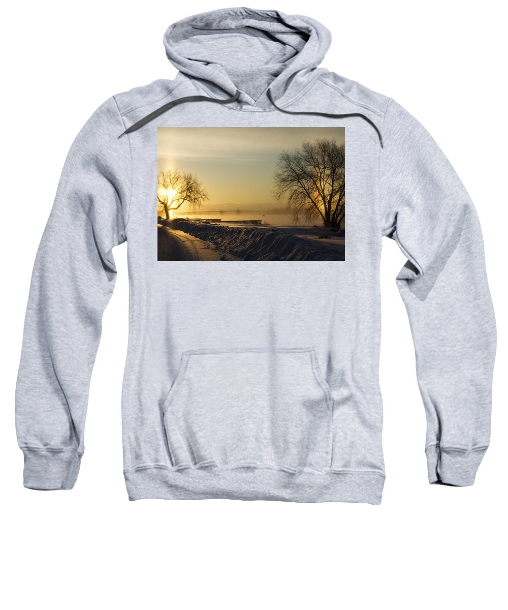 Sun Sweatshirt featuring the photograph Sundog On The Bay by Tim Nyberg