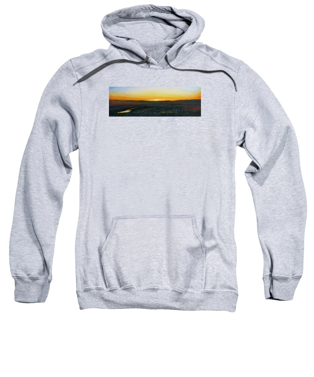 Sunrise Sweatshirt featuring the painting Sundown near Moscow by Leonard Heid