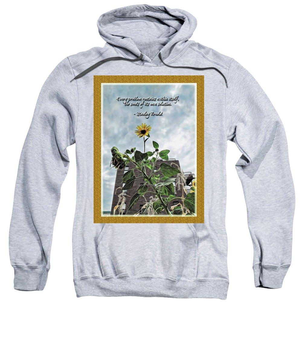 Botanical Sweatshirt featuring the digital art Sunflower Inspiration by Joan Minchak