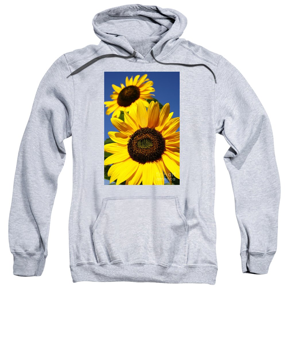 Sunflowers Sweatshirt featuring the photograph Sunflowers by Gaspar Avila