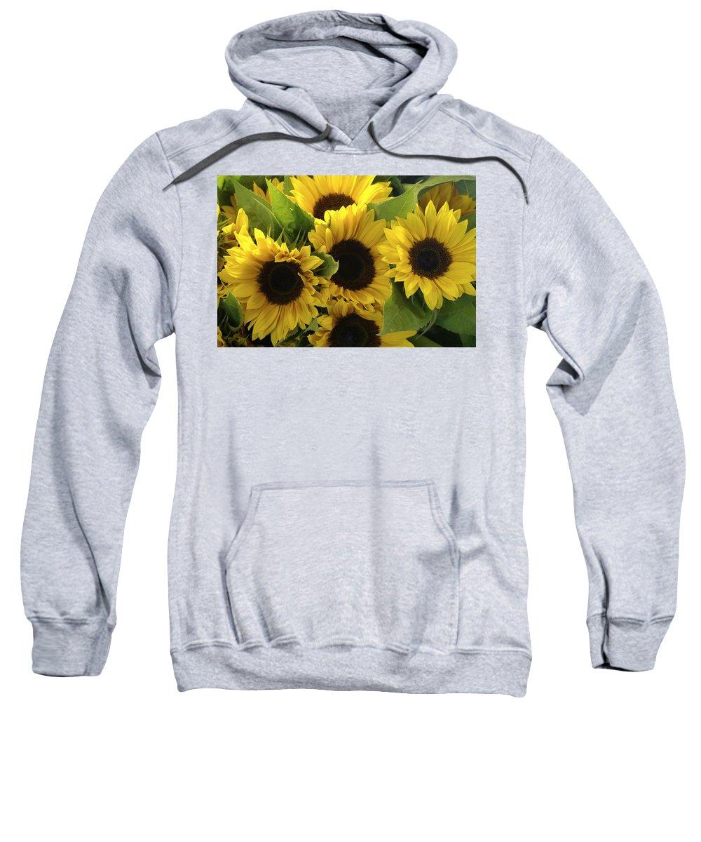 Flowers Sweatshirt featuring the photograph Sunflowers by Henri Irizarri