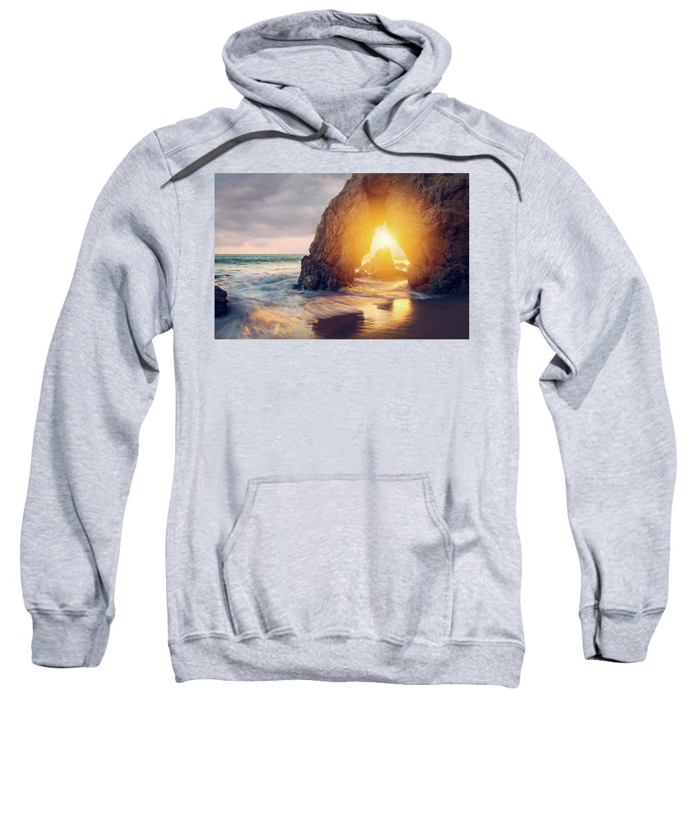 Sweatshirt featuring the photograph Sunlight Threads The Needle by Andrew Zuber