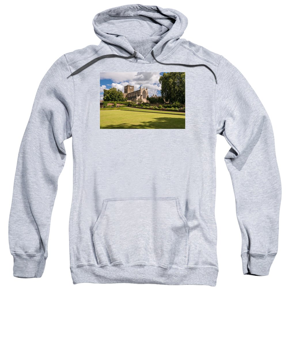 Northumberland Sweatshirt featuring the photograph Sunny Day At Hexham Abbey by David Head