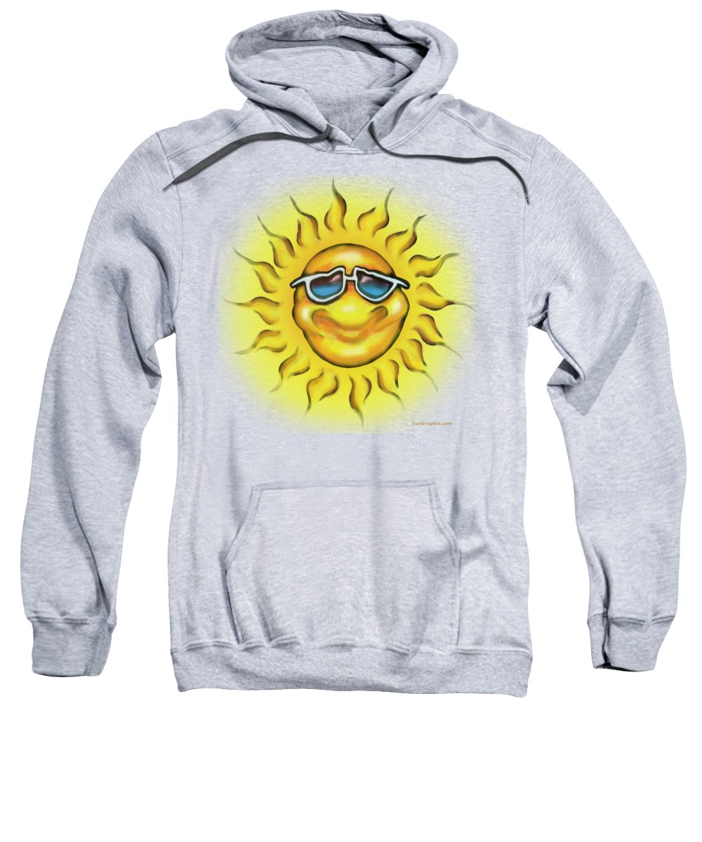 Sun Sweatshirt featuring the painting Sunny by Kevin Middleton