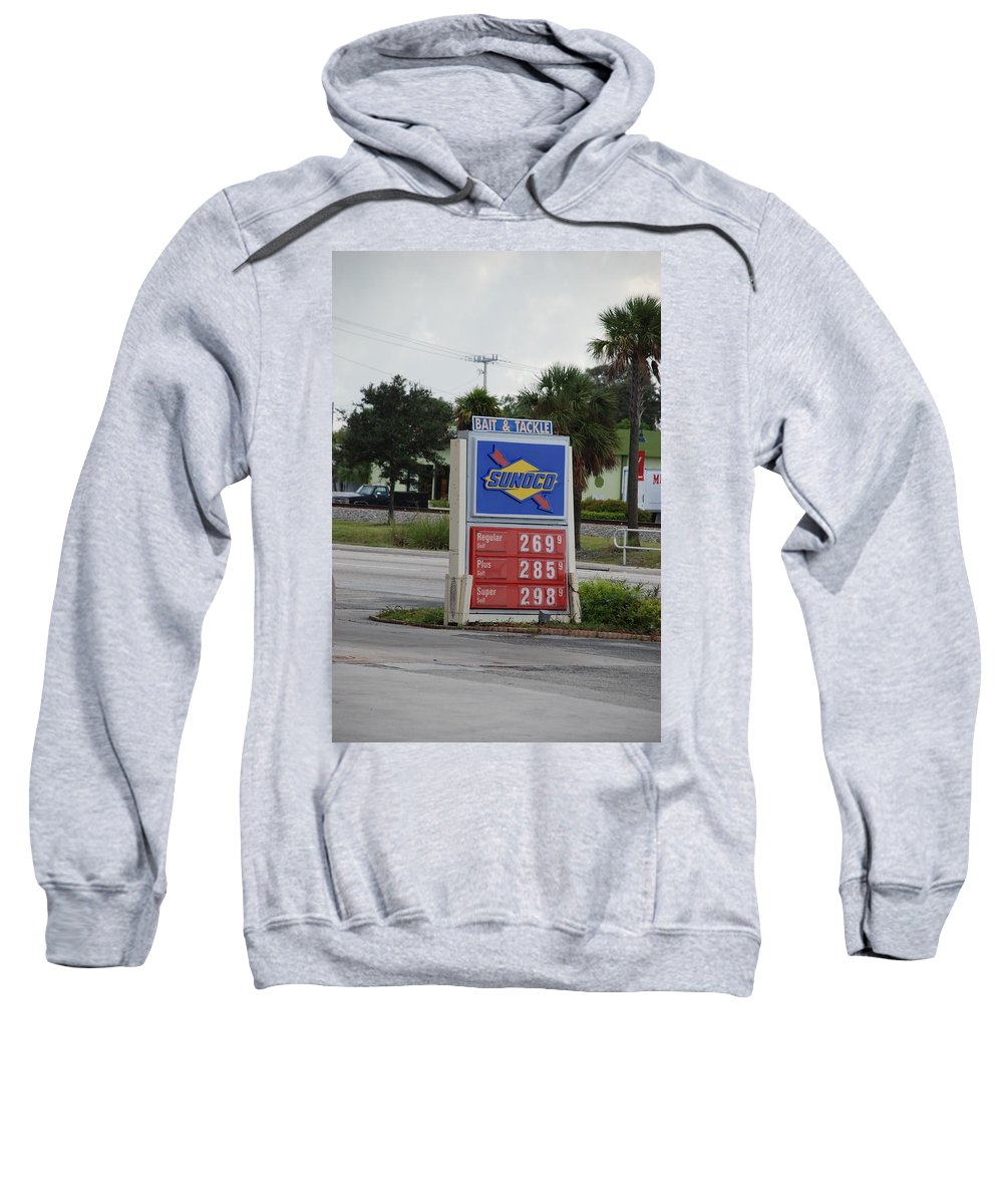 Gas Station Sweatshirt featuring the photograph Sunoco Bait And Tackle by Rob Hans