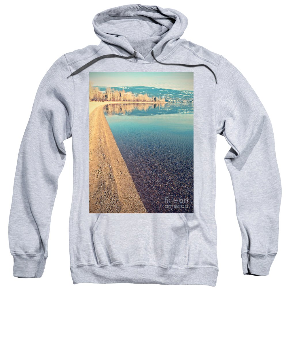 Lake Sweatshirt featuring the photograph Sunoka In January by Tara Turner